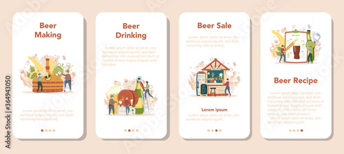 Foto Brewery mobile application banner set