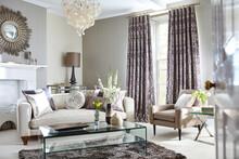 Luxury Living Room With Elegan...