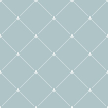 Geometric Dotted Vector Light Blue And White Pattern. Seamless Abstract Modern Texture For Wallpapers And Backgrounds