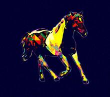 Colorful Horse Art Illustratio...