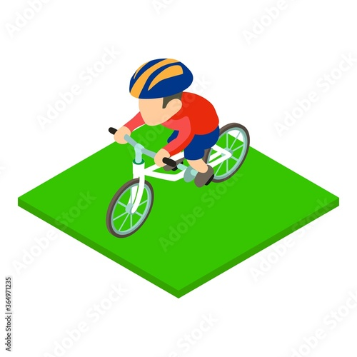 British cyclist icon Fototapet