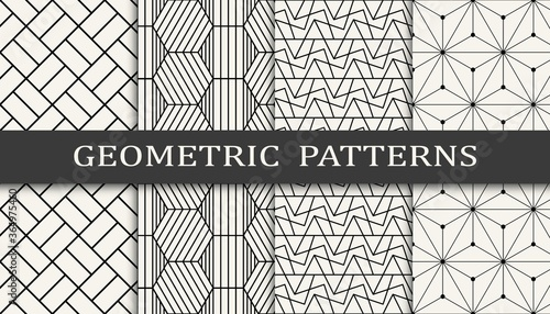 Photo geometric seamless background pattern design print