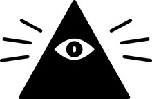 Black Masons Symbol All-seeing...
