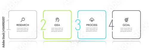 Fotografía Business Infographic template