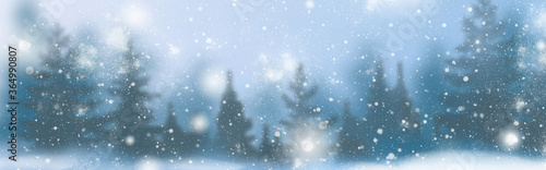Fototapeta Winter background of snow and the frost with free space for your decoration. Christmas background. obraz na płótnie