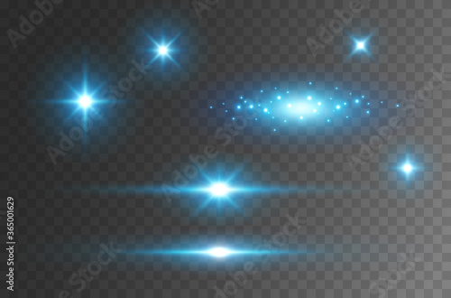 Flare light effect isolated on transparent background Canvas Print