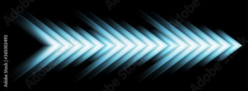 Cuadros en Lienzo Blue abstract glowing arrows tech banner design