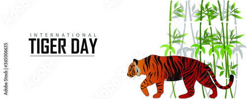 illustration  of international tiger day.