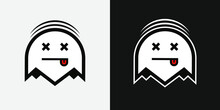 Ghost Logo. Flat, Clean, Vector.