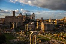 Forum Romanum, W świetle Zachodzącego Słońca