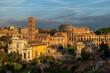 Forum Romanum, widok w kierunku Coloseum, Rzym, Włochy, Europa