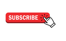 Subscribe Button With Hand Click Icon.