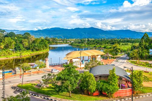Lawas town in Sarawak, Borneo, Malaysia © chaolik