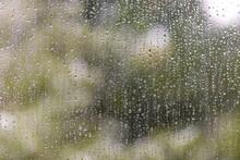 Drops Of Rain On The Window. C...
