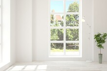 White Empty Room With Summer L...