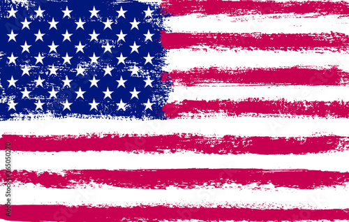 Grunge American flag background. Canvas-taulu