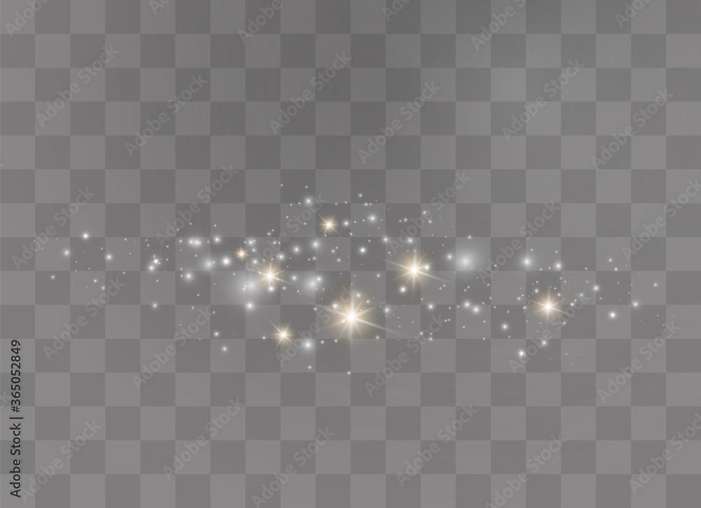 Fototapeta Sparkling dust particles.