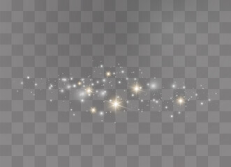 Sparkling dust particles.