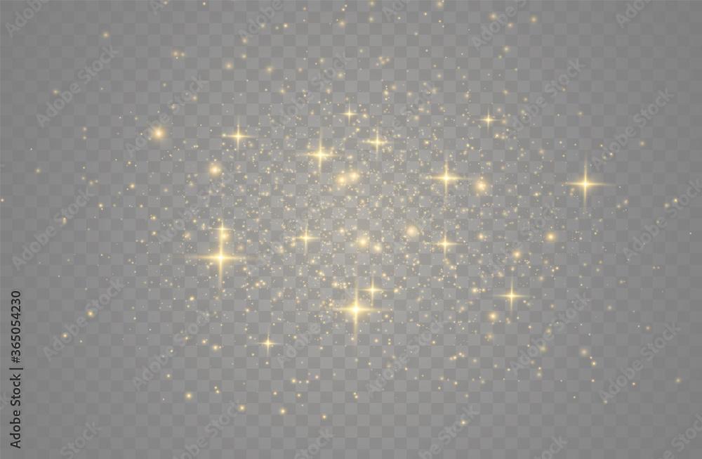 Fototapeta Golden dust sparks.
