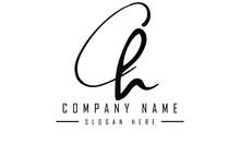 Ch Logo Design Template Art Illustration