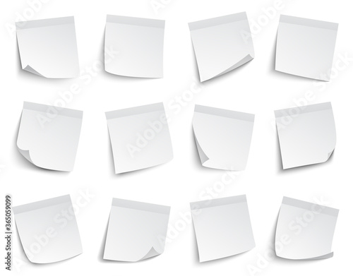 Note paper stickers Fototapeta