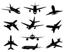 Airplane Silhouette. Passenger...
