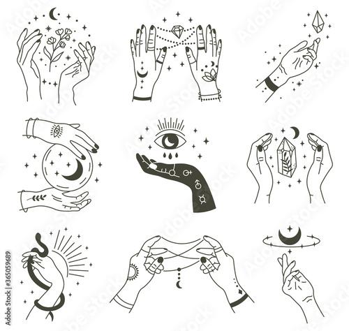 Canvas Print Magical hands