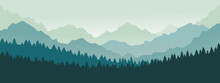 Mountains Panorama. Forest Mou...