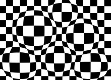 Black And White Checkered Sphe...