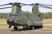 Military Double Rotor CH-47 Chinook Helicopter