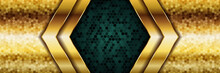 Luxury Dark Green Overlap Back...