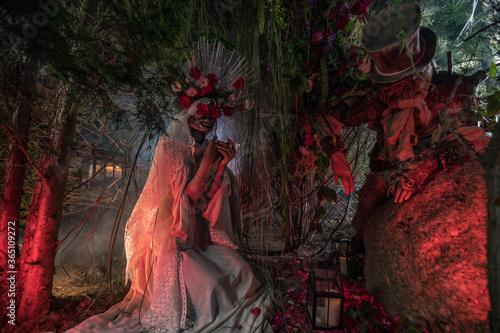 Fabulous stylization of Santa Muerte - Holy Death - modern religious cult Fototapet