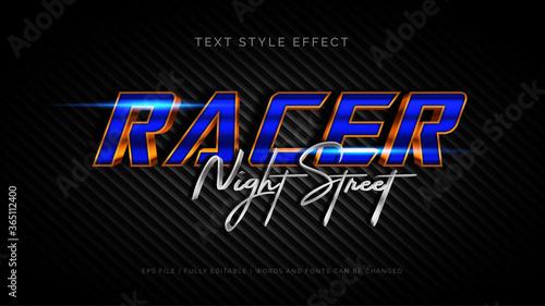 Fotografia Racer text style effect