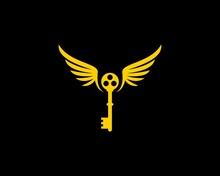 Yellow Wings And Key