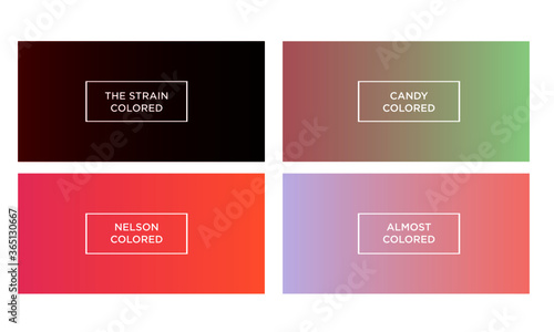 Set of gradient color background (the strain colored, candy colored, nelson colo Slika na platnu