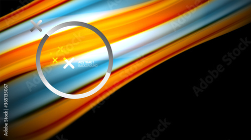 Fototapeta Swirl, curve blurred color lines, holographic rainbow liquid style gradient waves for Wallpaper, Banner, Background, Card, Book Illustration, landing page obraz