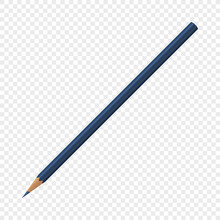 Single Blue Isolated Crayon Pe...