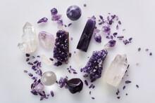 Healing Purple Amethyst Stones...