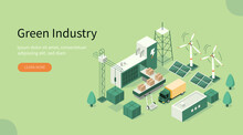 Green Industrial Factory With ...