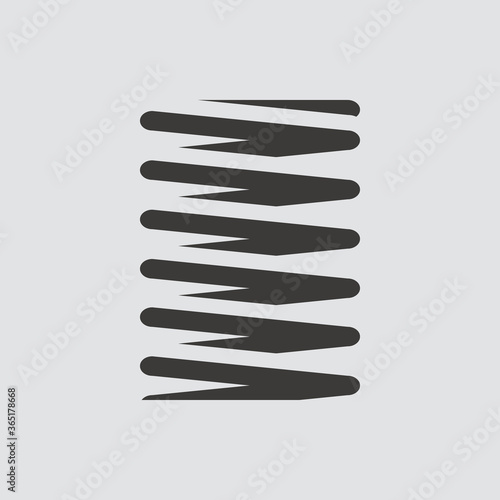 Fényképezés metal spring icon isolated of flat style. Vector illustration.