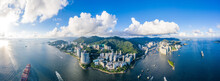 Aerial View Of South Side Of Hong Kong Island, Daytime