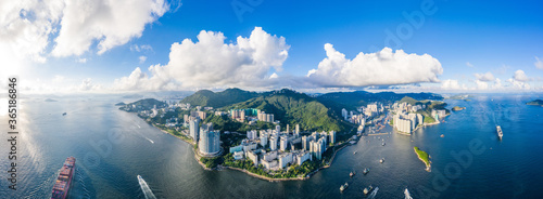 Fototapeta Aerial view of South side of Hong Kong Island, Daytime obraz