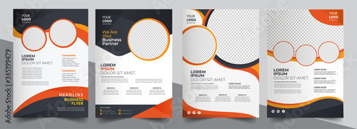 Fototapeta Brochure design, cover modern layout, annual report, poster, flyer in A4 with colorful triangles	  obraz