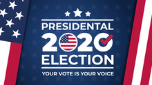 Election Day. Vote 2020 In USA...