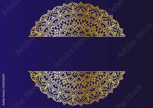曼荼羅 アラベスク 金 フレーム mandala golden  arabesque frame Canvas Print