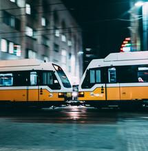 The Dart Train In Downtown Dallas