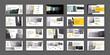 Geometric Yellow Presentation Element Templates. Vector infographics.