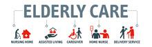 Elderly Care Vector Illustrati...