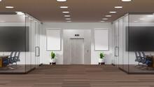 3D Rendering Modern Meeting Ro...