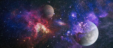 Galaxy And Light. Planets, Sta...